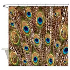 Peacock Featers Shower Curtain