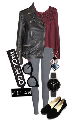 """""""Pack and Go: Milan"""" by sandrapopescu ❤ liked on Polyvore featuring Topshop, MANGO, I Love Ugly, CÉLINE, women's clothing, women, female, woman, misses and juniors"""