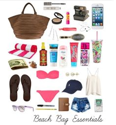 What's in my beach bag | What s, Beach and Bag