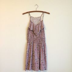 F21 Mauve Patterned Dress Very cute sundress! Worn several times but still in good condition. Mauve color with teal and cream pattern. Forever 21 Dresses Mini