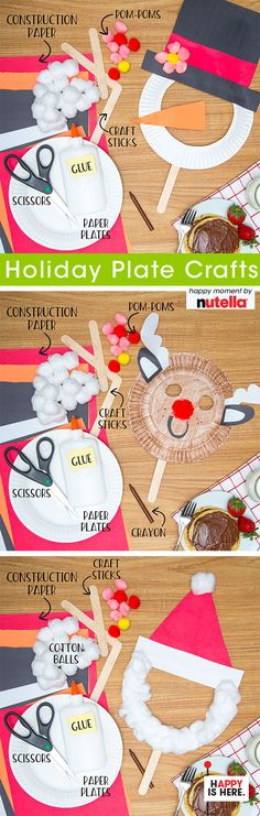 Keep the kid's table entertained at Christmas by pairing breakfast with this fun and festive craft. Preschool Christmas, Christmas Crafts For Kids, Christmas Projects, Kids Christmas, Holiday Crafts, Holiday Fun, Paperplate Christmas Crafts, Christmas Activities, Craft Activities