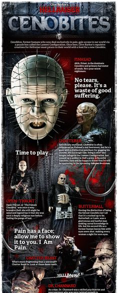 Biography of the Cenobites (pt 1). What makes Pinhead terrifying and alluring at the same time?