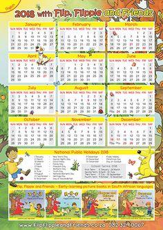 Flip Flippie and Friends English Calendar