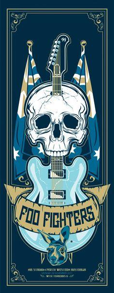 ☮~ღ~*~*✿⊱╮Hippie Style, Free Spirit, Boho, - レ o √ 乇 !! ✿⊱╮❥☮ Foo Fighters music poster:
