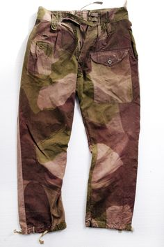 A vintage salvage from the SS12 Camouflage Story via Nigel Cabourn