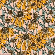 Happy Friday! 🌼🌿 🌼Beautiful blooms by @caitlin_keegan make the perfect happy print for today! 🌼