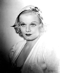 """Jean Harlow in a publicity still for her final film """"Saratoga"""", 1937."""