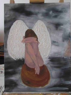Anděl. Olej na plátně.