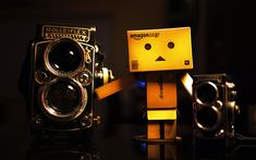 Download wallpapers Danbo, camera, cardboard robot, rolleiflex, danboard box