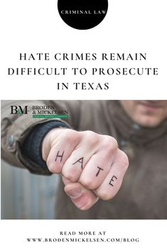 Hate crimes again made headlines in recent weeks when a gunman killed eight people, including six Asian women, in Atlanta. Criminal Law, Criminal Defense, James Byrd Jr, Lethal Injection, Houston Police, Reasonable Doubt, Crime, Hate, Texas
