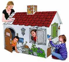 Discovery Kids Cardboard Color and Play Play House by Discovery Kids. $33.07. The Discovery Kids Cardboard Playhouse allows children to take their imaginations to another level by having them customize their own play house. Creativity will soar when your kids can color, paint, and personalize their imaginary home. The Playhouse is made of 100% sturdy cardboard paper and is .. Save 34%!