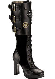 Demonia - Crypto 302 Boot (Black)