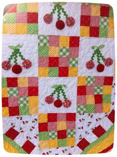 i love this cherry quilt