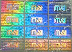 2D/3D Hologram sticker samples