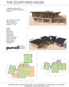 Purcell Timber Frames - Homes and Floorplans - The Courtyard House
