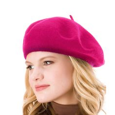 e27d57480 9 Best ICSTH Womens Solid Color 100% Wool French Beanie Cap Hat ...