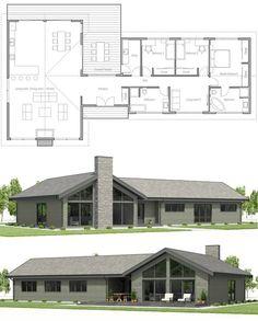 Floor Plan, Home Plan, House Plan, - Home Decor New House Plans, Dream House Plans, Modern House Plans, Small House Plans, Modern House Design, House Floor Plans, Modular Home Plans, Simple Floor Plans, House Construction Plan