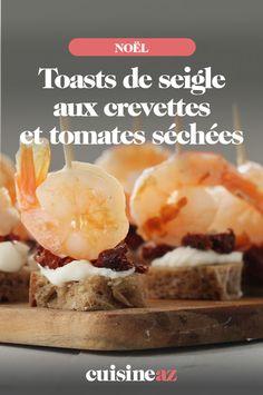 Ces toasts de pain de seigle aux crevettes et tomates séchées apporteront une touche de fraicheur à vos apéritifs. #recette#cuisine#toast#crevette#tomate#aperitif#apero#noel#fete#findannee#fetesdefindannee