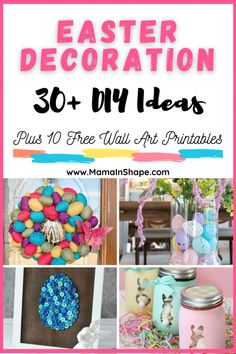 Easter Decor - Easy DIY Ideas For the Home - Mama In Shape