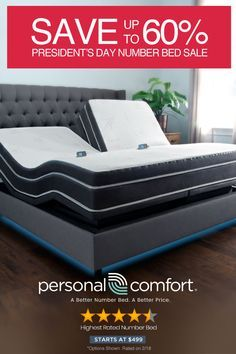 Save up to 60% over Sleep Number - Personal Comfort - A Better Number Bed. A Better Price. - Our President's Sale is Here - Free Shipping, Free Returns & Free Trial - Number Beds Start at $499