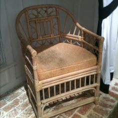 "Vintage rattan chair ""before""..."