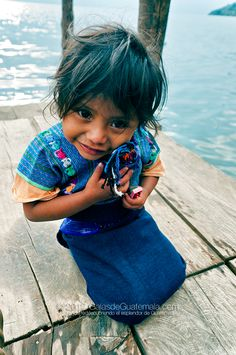 Francisca, little girl in San Antonio Palopó, Sololá