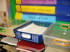 """Teach students that all extra papers are kept in a special drawer or basket labeled 'Extra Class Work Papers'.  Children can simply walk over to the designated place and take (or put back) papers as needed without ever making you aware of the situation.  When a student says, """"I didn't get a paper!"""" smile, shrug, and say, """"I don't have them, either,"""" while pointing to the basket."""