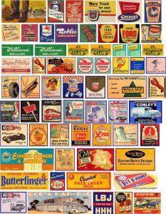Signs, graphics and artwork for your model railroad. Vintage Banner, Vintage Menu, Vintage Labels, Vintage Ads, Vintage Antiques, Diorama Ideas, Retro Ads, Old Signs, Free Sign