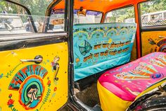 The Taxi Fabric project started by Sanket Avlani is aimed at creating a space for designers to show off their ideas and talent through the medium of fabric used within the taxis of Mumbai. The team contacted me to create designs for one of these taxis'. U…