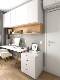 I really like this eye-catching photo Small Home Offices, Home Office Space, Home Office Decor, Office Setup, Office Organization, Office Ideas, Small Office Design, Office Interior Design, Study Room Design