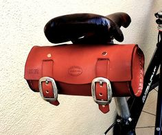 Honey Leather SF 2in1 Bike Bag with Copper by SanFilippoLeather