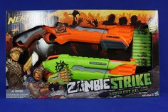NERF Zombie Strike ROUGH CUT (Pack of 2) Dart Guns. 24 Darts. *NEW* *MIB* #NERF