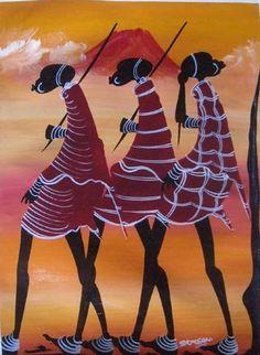africanartonline.com - Maasai From Kilimanjaro Oil on Canvas Tingatinga Art, $85.00 (https://africanartonline.com/Maasai-From-Kilimanjaro-Oil-on-Canvas-tingatinga-art)