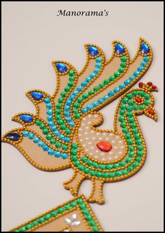 Floor Art-Grand Kundan RangoliFestival by ManoramasJewellery