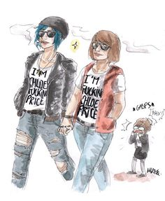 """Warren probably texts her """"Max what the fuck"""" the same day. , life is strange, Maryne:tumblr, Max Caulfield, Chloe price"""