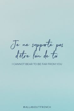 Let us be your ultimate guide to discover French Quotes, Idioms, Sayings and much more! Romantic French Phrases, French Love Quotes, French Language Lessons, French Lessons, Spanish Lessons, German Language Learning, Foreign Language, Spanish Language, French Words With Meaning