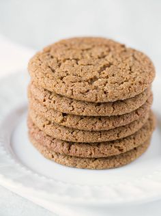 Chewy Brown Sugar Molasses Cookies | #glutenfree