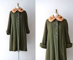 vintage 1930s coat / boucle 30s wool / Balsamwood by DearGolden, $335.00