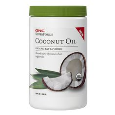 Gift GNC SuperFoods Coconut Oil for Holidays! This cold-pressed, non-GMO, organic coconut oil is perfect for holiday recipes and treats.