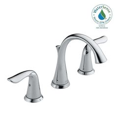 Delta Valdosta Spotshield Brushed Nickel Handle Widespread - Delta valdosta kitchen faucet