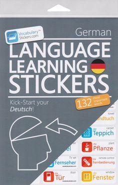 German Vocabulary Language Learning Stickers #germanlanguage #learngerman #german #deutsch #languagelearning #learningstickers #stickers #language #learning #vocabularystickers