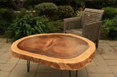 Love this table from The Timber Library!