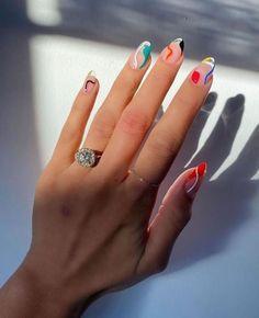 Nail Design Glitter, Nails Design, Nagel Hacks, Nagellack Design, Nail Tattoo, Nail Polish, Nail Nail, Funky Nails, Colorful Nails