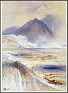 Thomas Moran (1837-1926), Mammoth Hot Springs, Yellowstone - 1872
