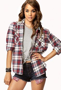 Rustic Plaid Flannel Shirt | FOREVER 21 - 2000051973