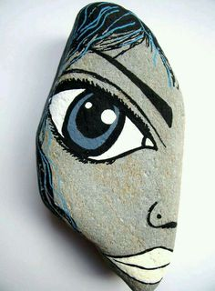 Augusta Rocks painted rocks idea DIY face draw eyes
