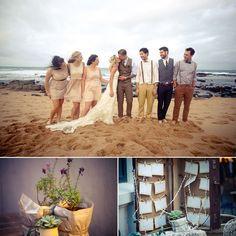 YolanCris | News | Wonderful wedding in Durban beach, South Africa. Rhys & Kelly in Alabama wedding dress.