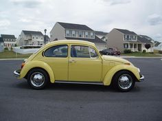 1973 yellow VW bug...just like my first car