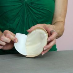 Add padding to the basic shell to create bust volume, add comfort, and to prevent the shell from looking hollow.