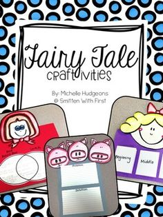 With this unit on fairy tales we will compare and contrast Red Riding by James Marshall and Lon Po Po by Ed Young. We will summarize the story Goldilocks and the Three Bears by telling the beginning , middle and the end. Kindergarten Literacy, Literacy Activities, Summer Activities, Fairy Tale Theme, Fairy Tale Crafts, Fractured Fairy Tales, Fairy Tales Unit, First Grade Reading, Three Little Pigs